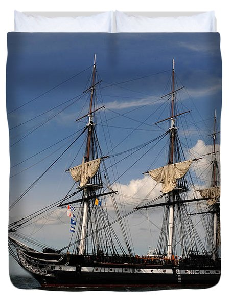 Uss Constitution - Featured In Comfortable Art Group Duvet Cover