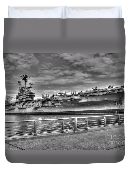 Uss Intrepid Duvet Cover by Anthony Sacco