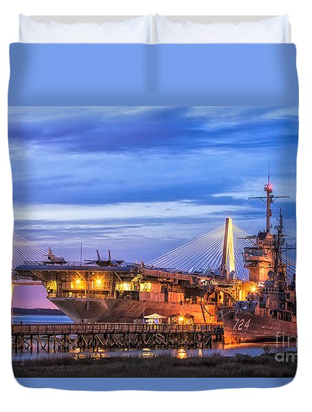 Uss Yorktown Museum Duvet Cover by Jerry Fornarotto