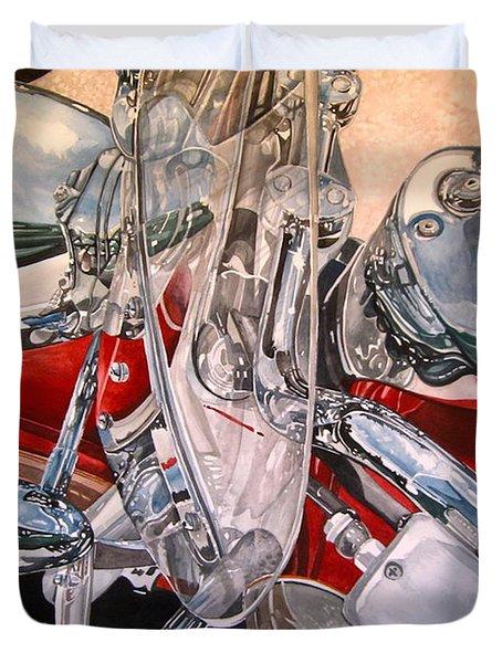 Utah Chrome Duvet Cover by Lance Wurst