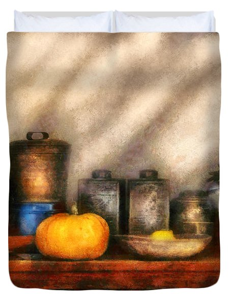 Utensils - Kitchen Still Life Duvet Cover by Mike Savad