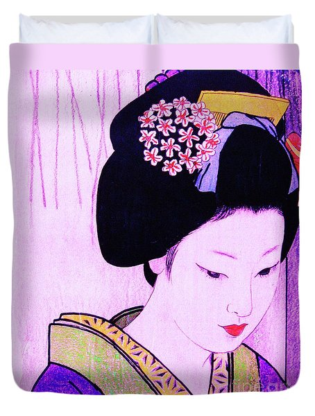 Duvet Cover featuring the painting Utsukushii Josei Ichi by Roberto Prusso