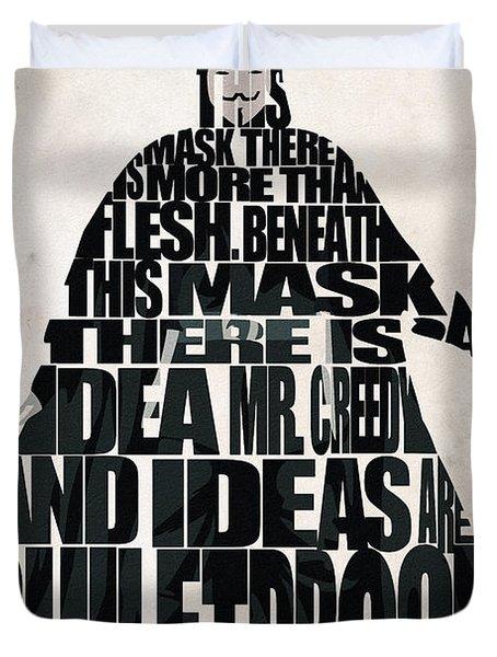 V For Vendetta Duvet Cover