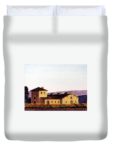 V. Sattui Winery Duvet Cover