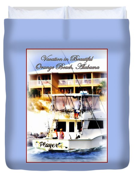 Vacation In Beautiful Orange Beach Alabama Duvet Cover by Travis Truelove