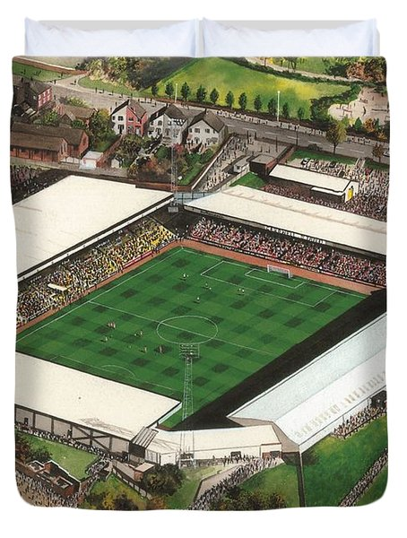 Vale Park - Port Vale Duvet Cover by Kevin Fletcher