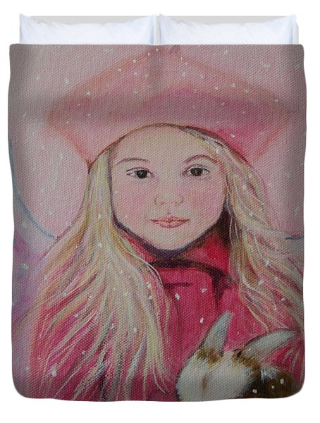 Valentina Little Angel Of Perseverance And Prosperity Duvet Cover by The Art With A Heart By Charlotte Phillips