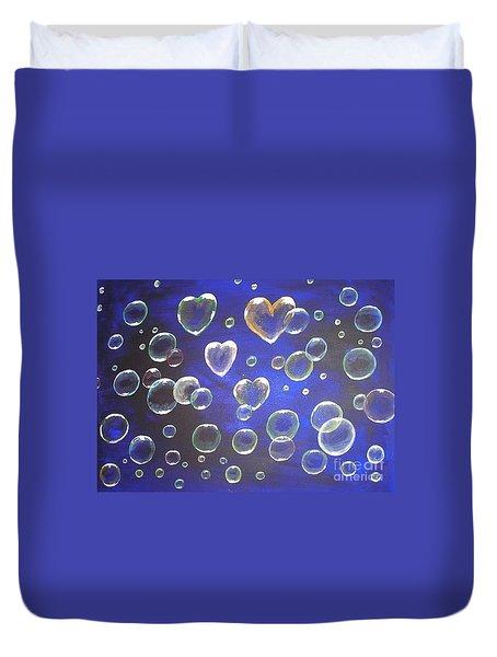 Valentine Bubbles Duvet Cover