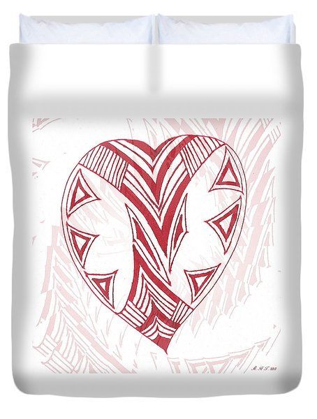 Valentine Heart Duvet Cover by Amanda Holmes Tzafrir