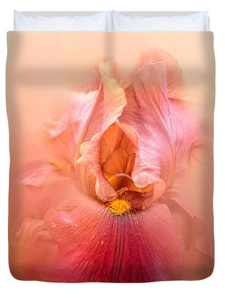 Valentine Iris Duvet Cover by Jai Johnson