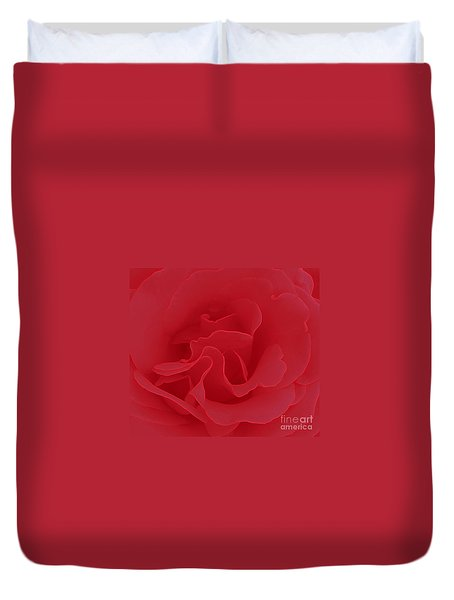 Duvet Cover featuring the photograph Valentine Red by Janice Westerberg