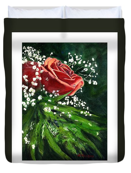 Valentine Rose Duvet Cover