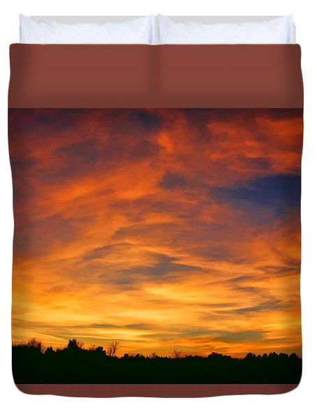 Valentine Sunset Duvet Cover by Tammy Espino