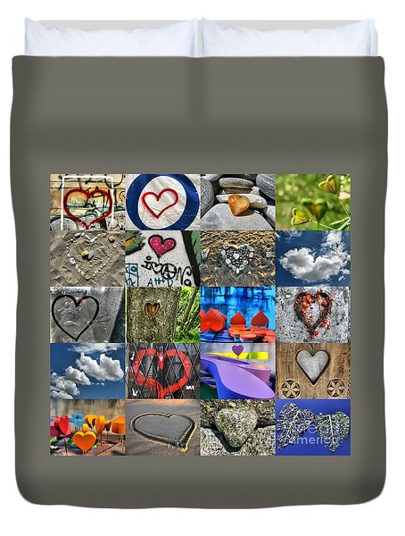 Valentine's Day - Hearts For Sale Duvet Cover