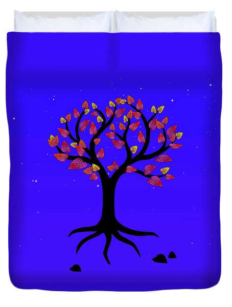 Duvet Cover featuring the photograph Love Tree by I'ina Van Lawick