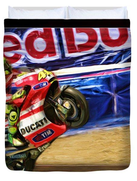 Valentino Rossi Ducati Duvet Cover