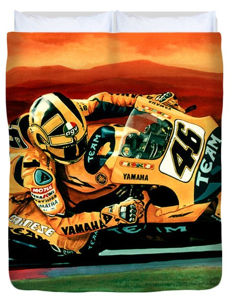 Valentino Rossi The Doctor Duvet Cover