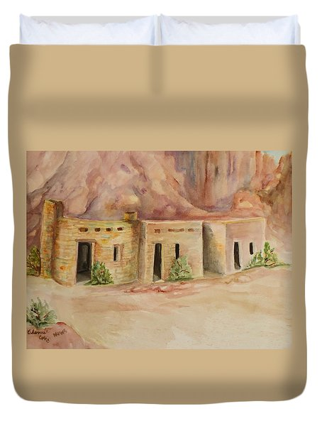 Valley Of Fire Cabins Duvet Cover