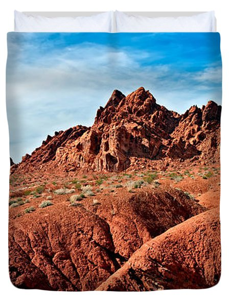 Valley Of Fire Pano Duvet Cover