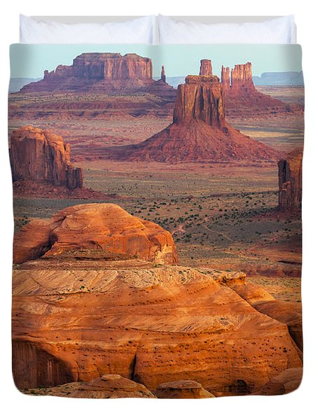 Valley Of Monuments At Dawn Duvet Cover