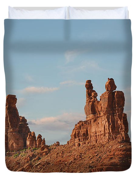 Valley Of The Gods - Escape From Civilization Duvet Cover by Christine Till