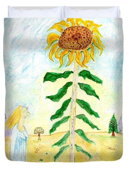 Valley Of The Mammoth Sunflowers Duvet Cover