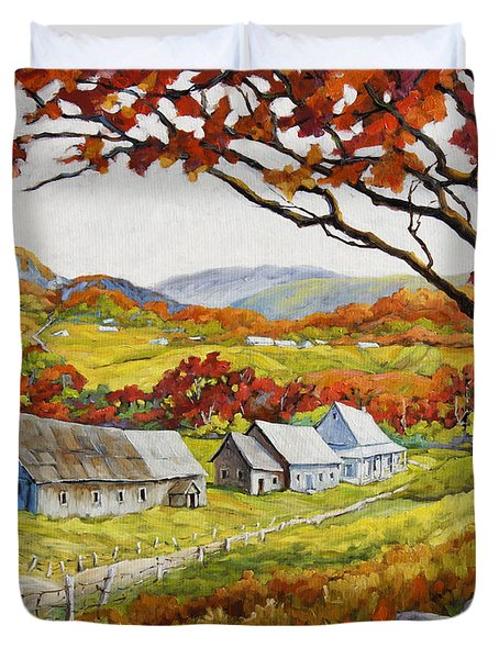 Valley View By Prankearts Duvet Cover by Richard T Pranke