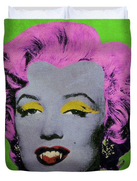 Vampire Marilyn Variant 2 Duvet Cover by Filippo B