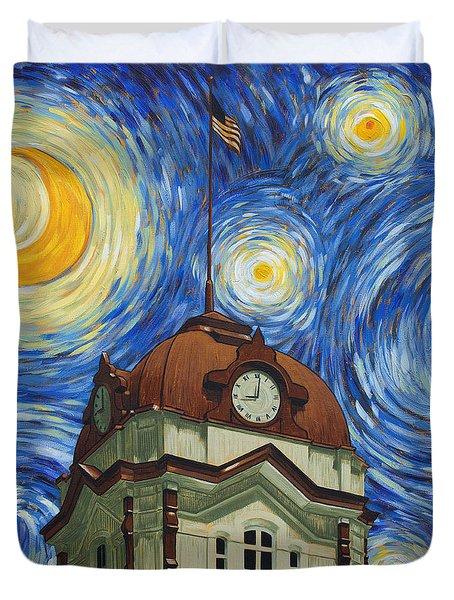 Van Gogh Courthouse Duvet Cover