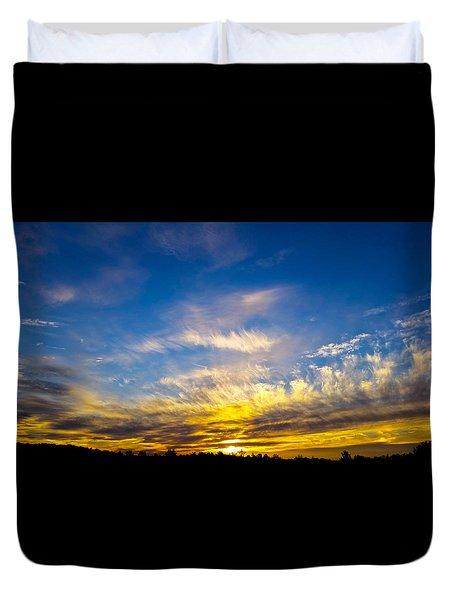 Van Gogh Sunset Duvet Cover by Jean Haynes