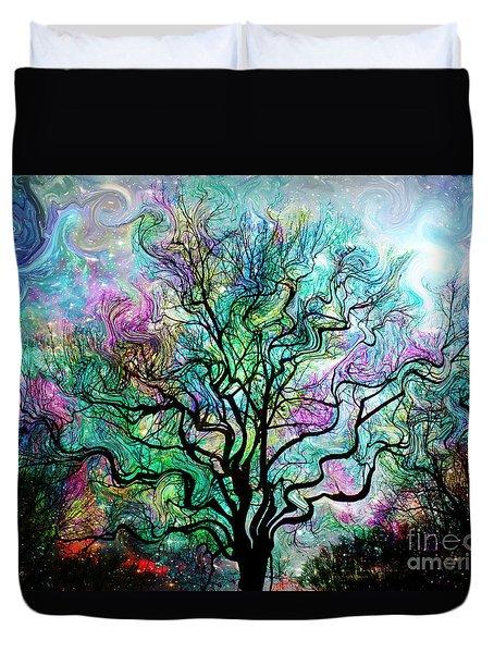 Van Gogh's Aurora Borealis Duvet Cover