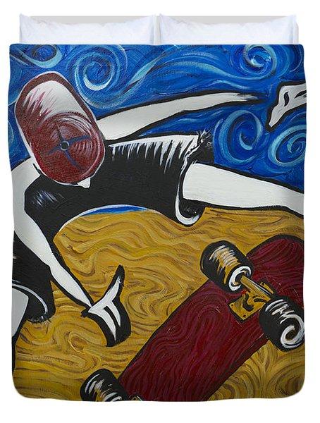 Van Gogh's Half Pipe Duvet Cover by Doug LaRue