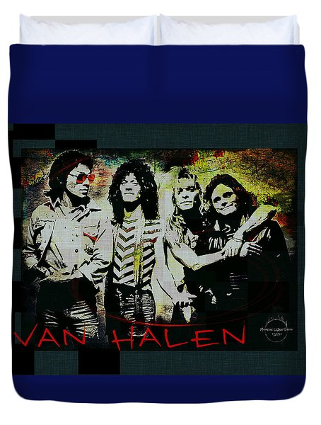 Van Halen - Ain't Talkin' 'bout Love Duvet Cover by Absinthe Art By Michelle LeAnn Scott