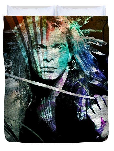 Van Halen - David Lee Roth Duvet Cover
