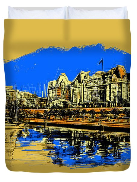 Vancouver Art 001 Duvet Cover by Catf
