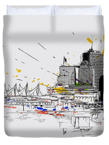Vancouver Art 004 Duvet Cover by Catf