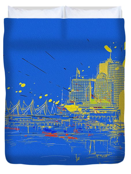 Vancouver Art 005 Duvet Cover by Catf