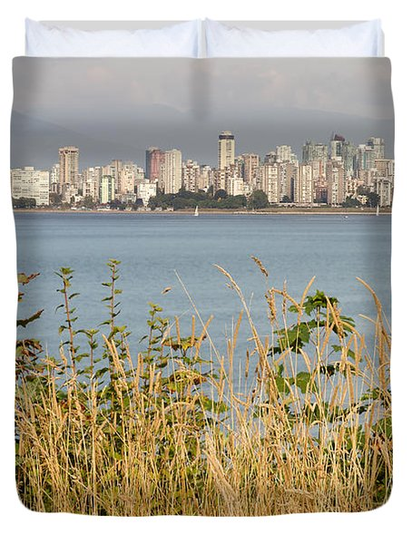 Duvet Cover featuring the photograph Vancouver Bc Downtown From Hasting Mills Park by JPLDesigns