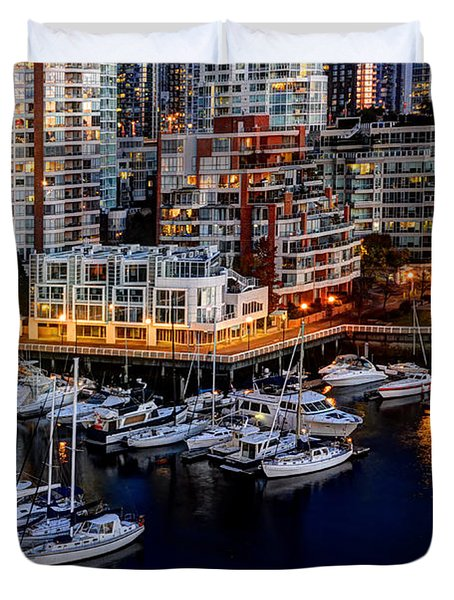 Vancouver British Columbia 10 Duvet Cover by Bob Christopher
