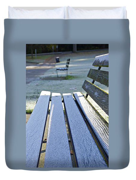 Vancouver Frosty Morning Duvet Cover by Marilyn Wilson