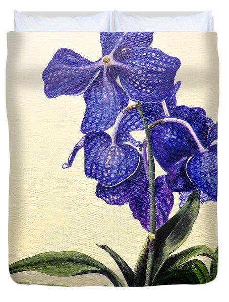 Vanda Sausai Blue Orchid Duvet Cover