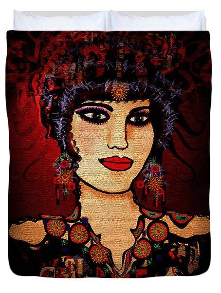 Vanessa Duvet Cover by Natalie Holland
