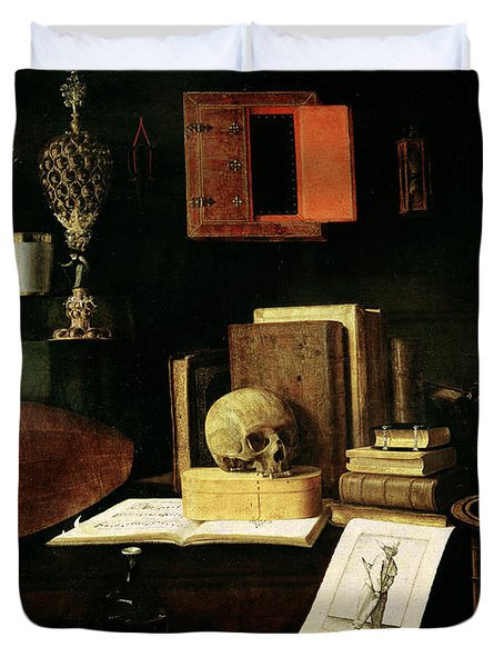Vanitas Still Life, 1641 Oil On Canvas Duvet Cover
