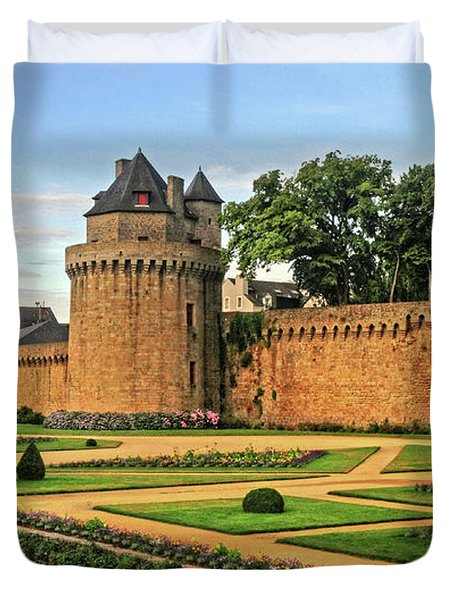 Duvet Cover featuring the photograph Vannes In Brittany France by Dave Mills
