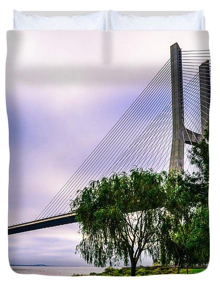 Vasco Da Gama Bridge I Duvet Cover