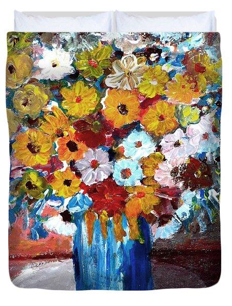 Vase Of Spring Duvet Cover by Mauro Beniamino Muggianu
