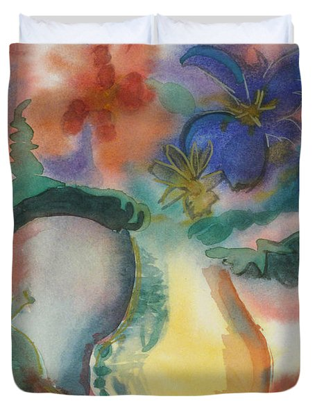 Vase Still Life 1 Duvet Cover