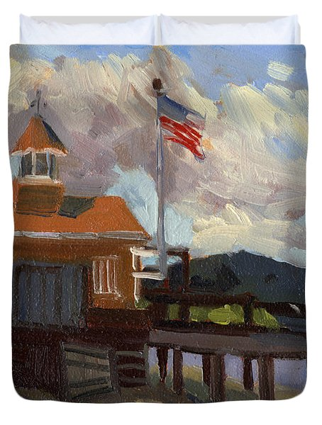 Vashon Island 4th Of July Duvet Cover by Diane McClary