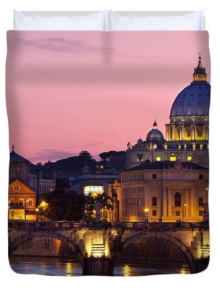 Vatican Twilight Duvet Cover by Brian Jannsen