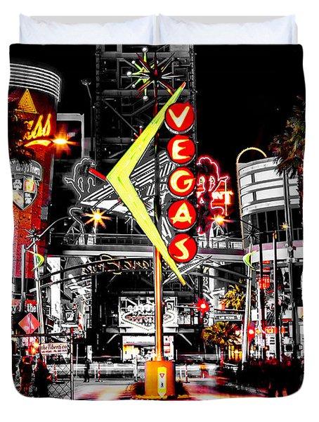 Vegas Nights Duvet Cover by Az Jackson